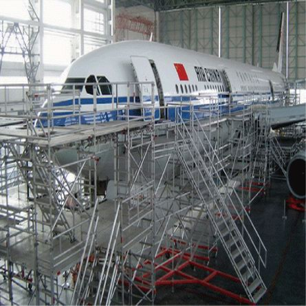 Aluminum Scaffolding for Aircraft Maintenance